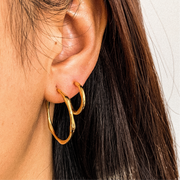 Big Aritiz Gold Stylish Hoop Earrings