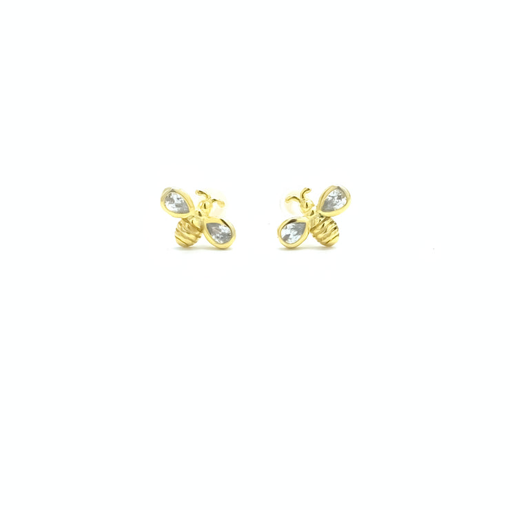 Bee Gold Stud Earrings