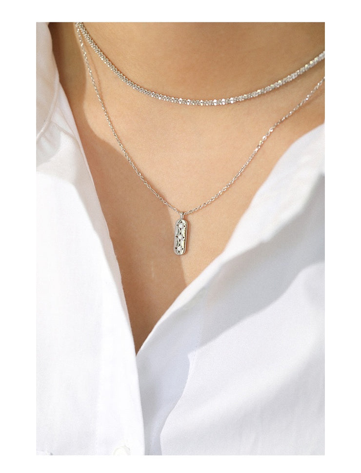 Triple Star Silver Necklace