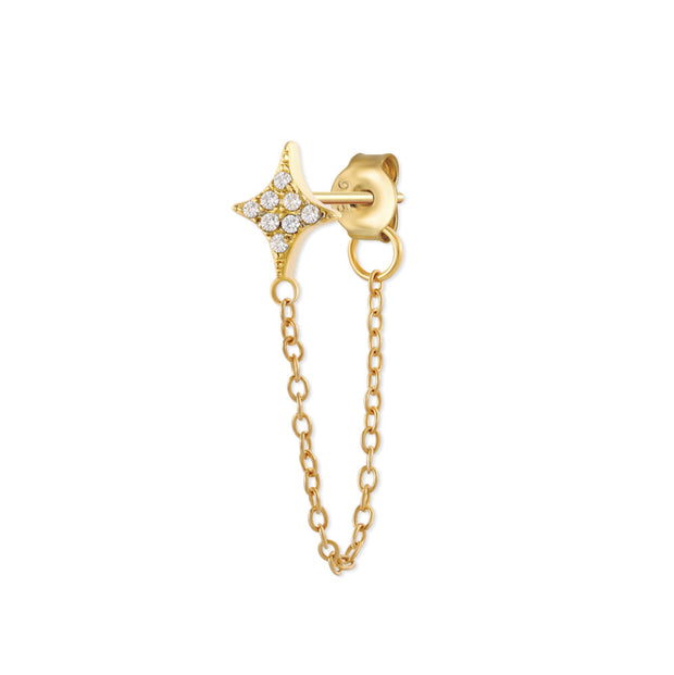 Shining Star Chain Stud Earrings