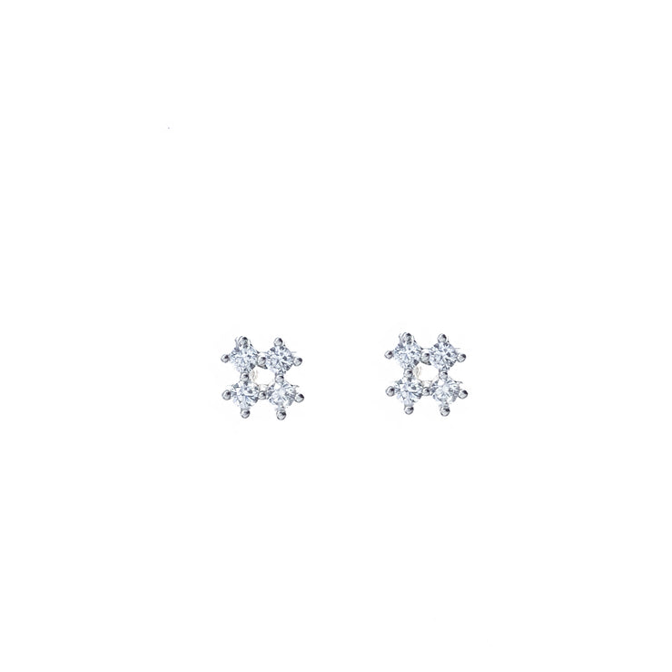 CZ Silver Stud Earrings