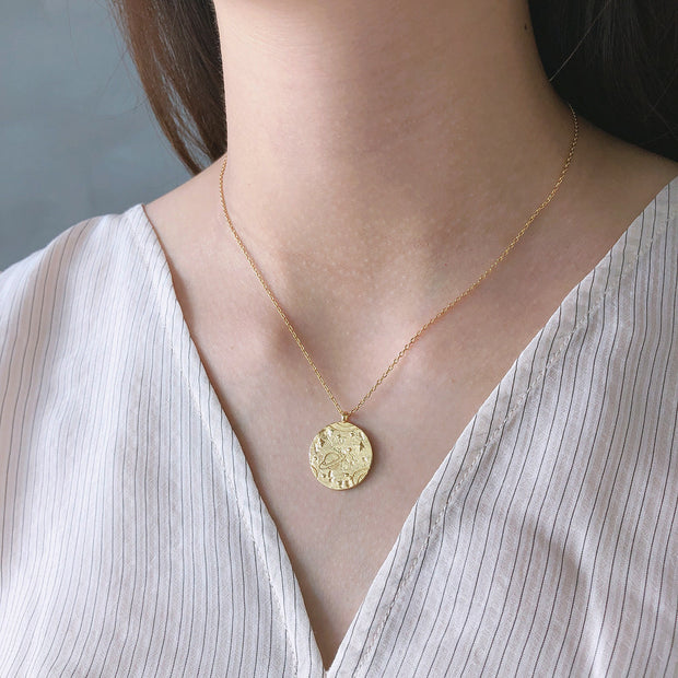 Galaxy Gold Coin Necklace