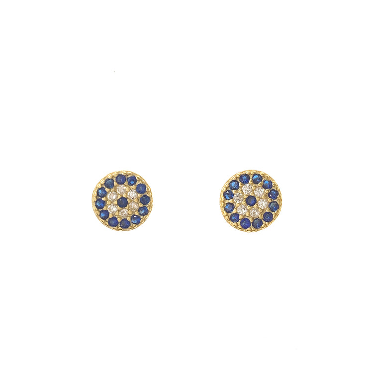 Evil Eye Gold Earring