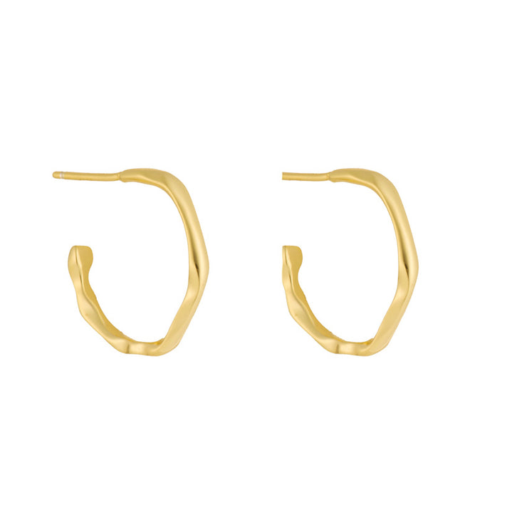 Aritiz Gold Stylish Hoop Earrings