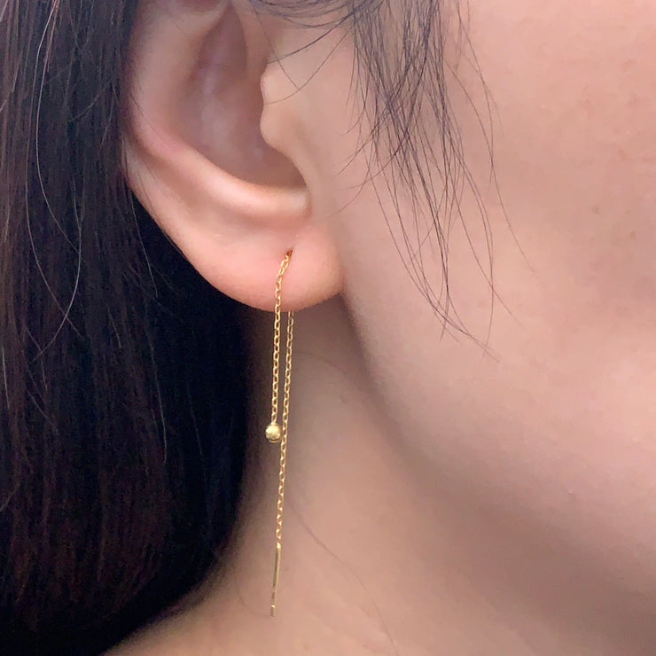 Ball Gold Thread Earrings