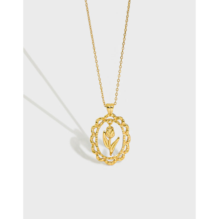 Tulip Gold Coin Necklace