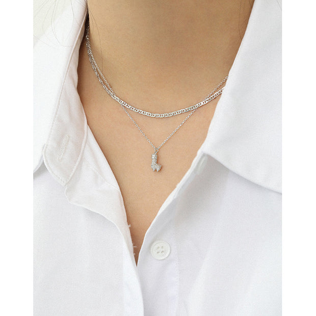 Curl Stylish Silver Choker Chain Necklace