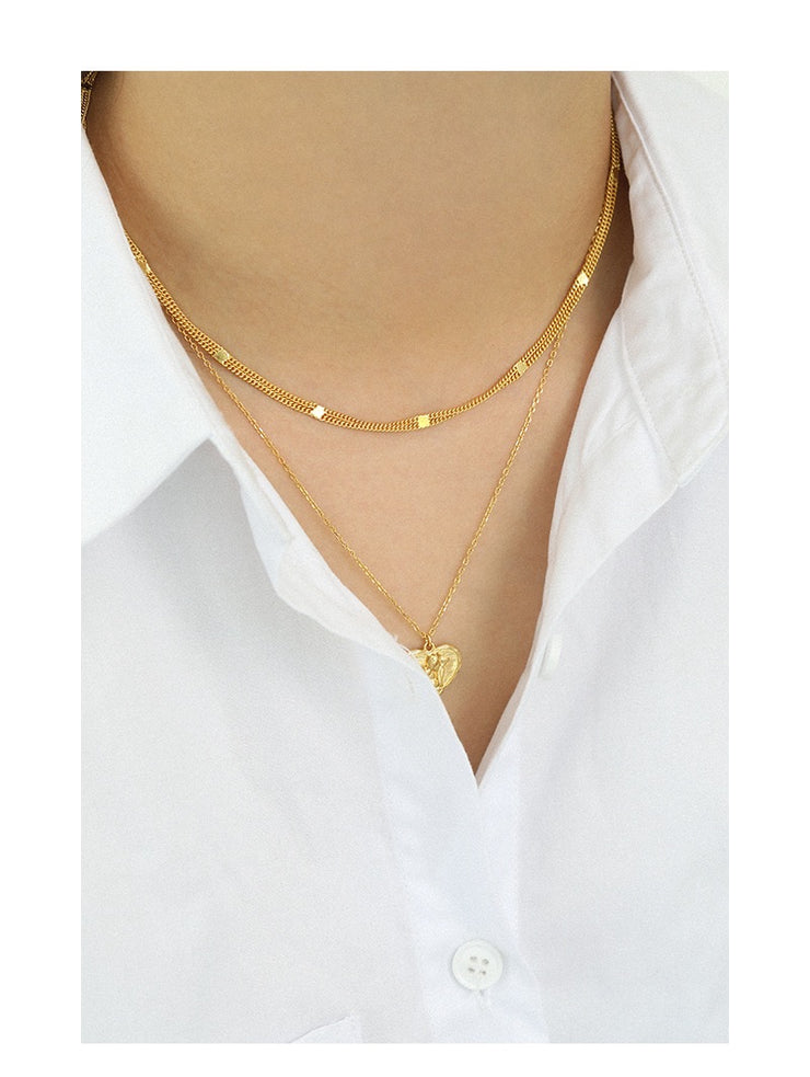 Elia Stylish Gold  Choker Chain Necklace