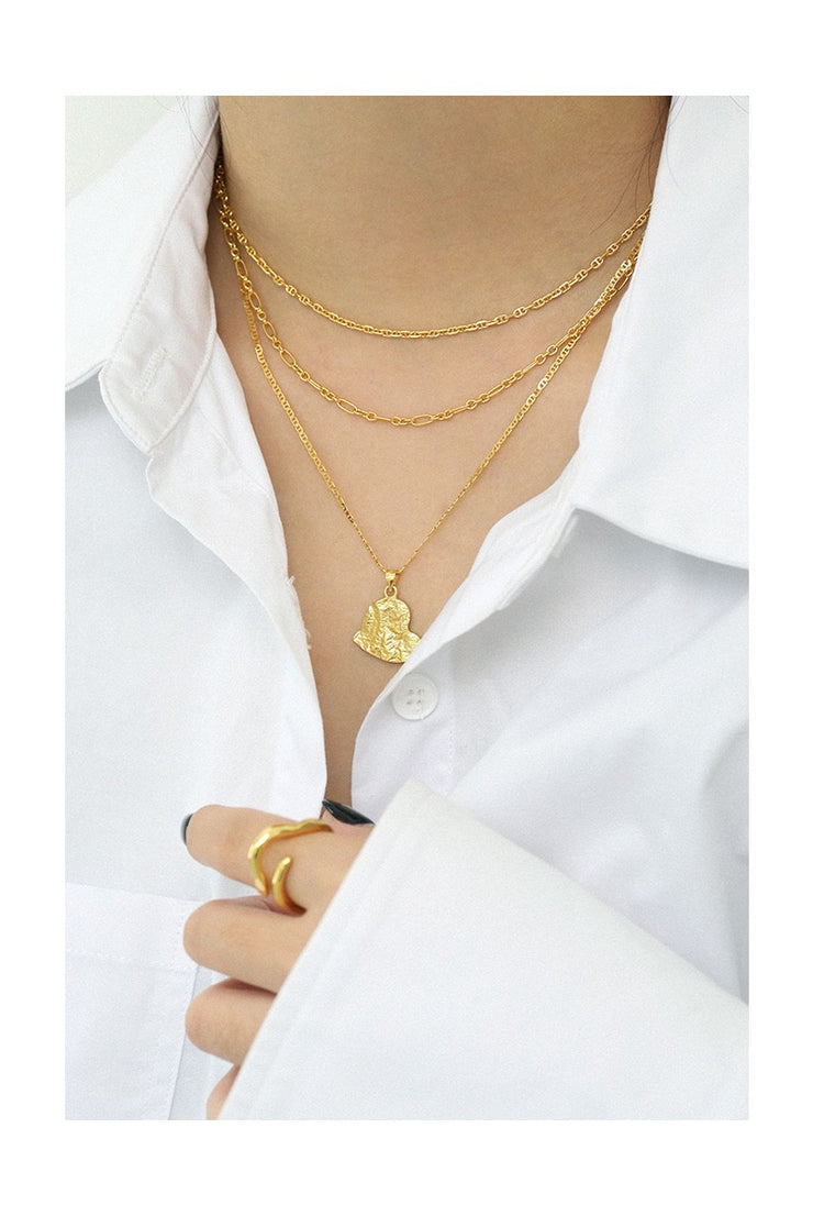 Chain Gold Choker Necklace