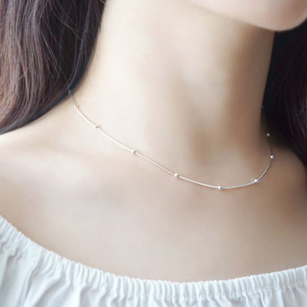 Bol Stylish Silver  Chain Necklace