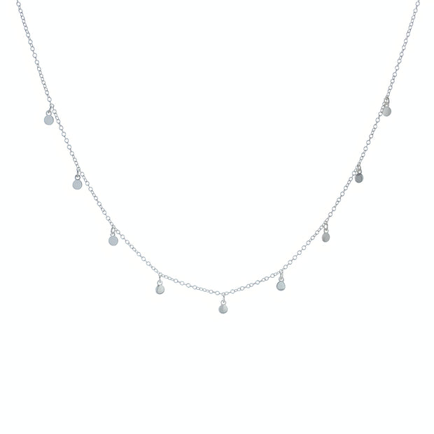 Small Disc Silver Choker Necklace