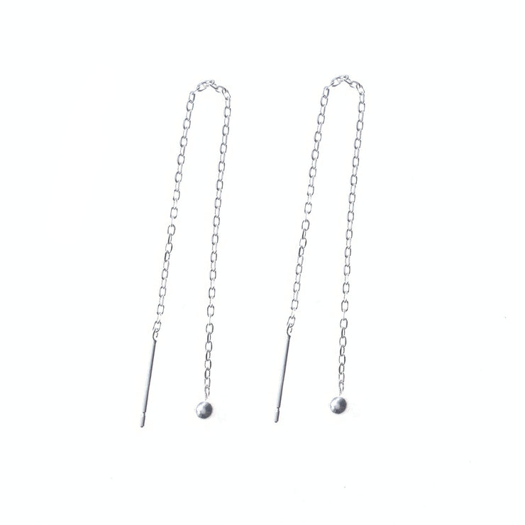 Ball Silver Thread Earrings