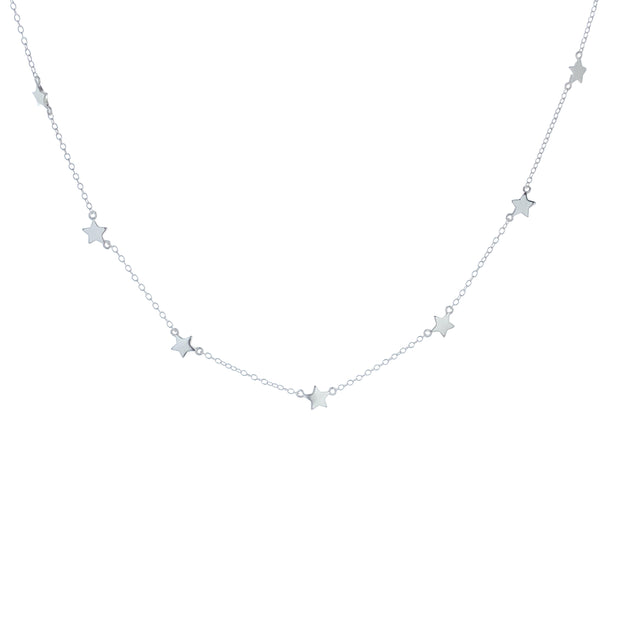 Star Silver Choker Necklace