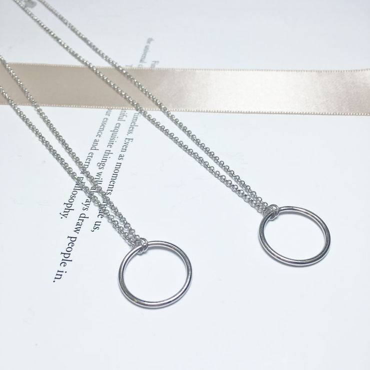 Silver Classic Circle Necklace