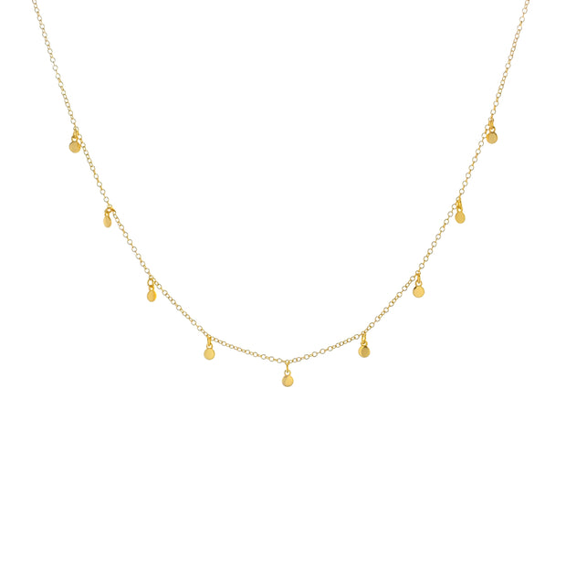 Small Disc Gold Choker Necklace