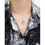 Tulip  Silver Coin Necklace