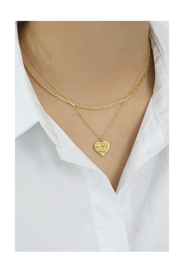 Curl Stylish Gold  Choker Chain Necklace