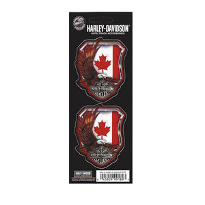 Harley-Davidson Eagle Canada Flag Decal Set