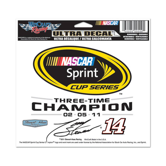 Tony Stewart Champion Ultra Decal