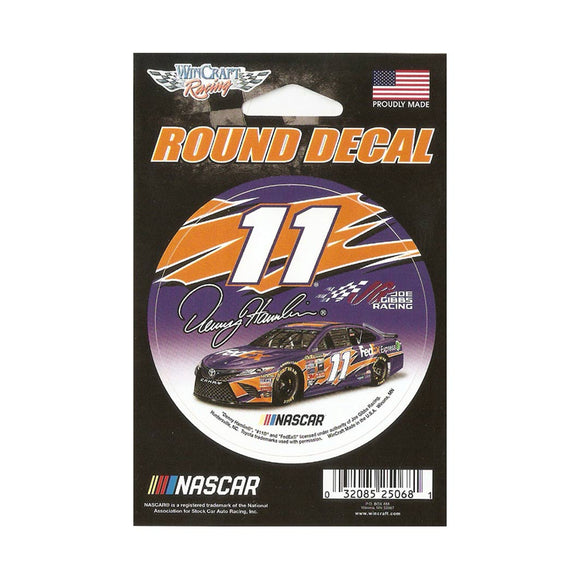 Denny Hamlin Round Decal