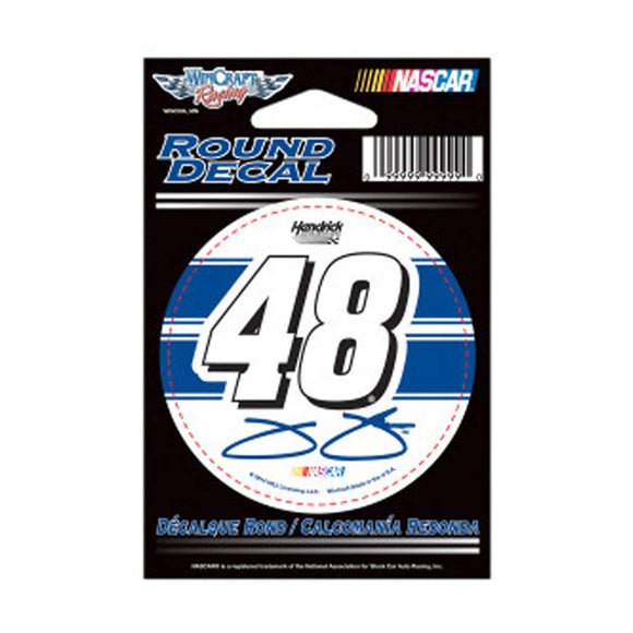 Jimmie Johnson Round Decal