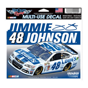 Jimmie Johnson White Lowes Car Ultra Decal