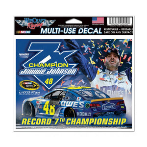 Jimmie Johnson 7 Time Champion Ultra Decal