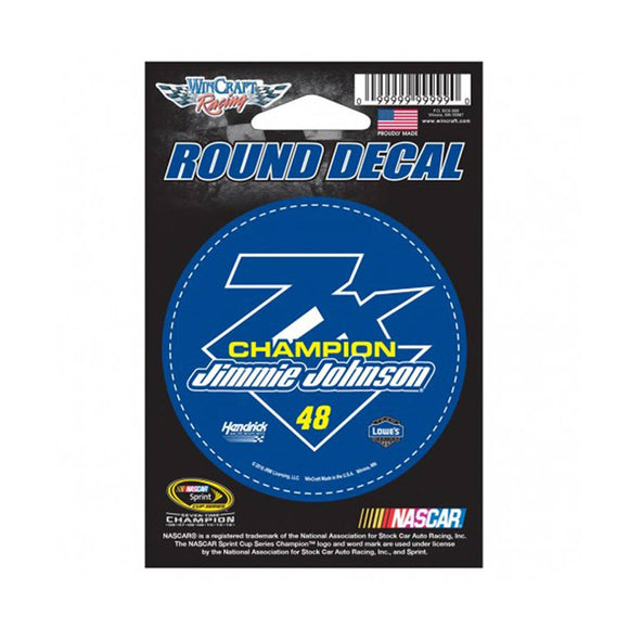 Jimmie Johnson 7 Time Champion Decal