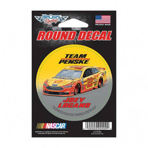 Joey Logano Yellow Grey Round Decal