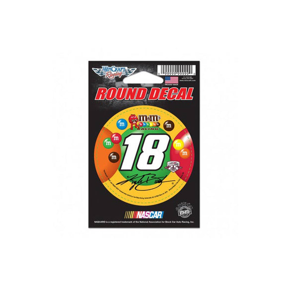Kyle Busch M&M Round Decal