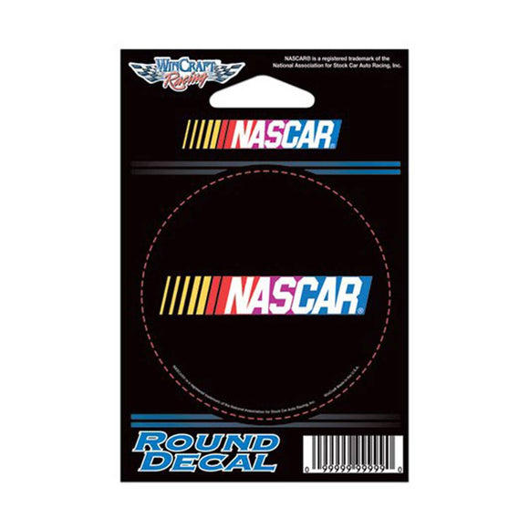 Nascar Round Black Decal