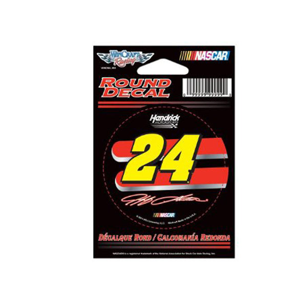 Jeff Gordon Round Decal