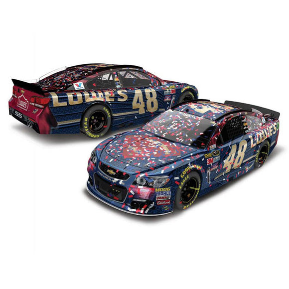 Jimmie Johnson Superman Fontana Win 1/64 Scale Diecast Car
