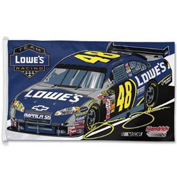 Jimmie Johnson Lowes Flag