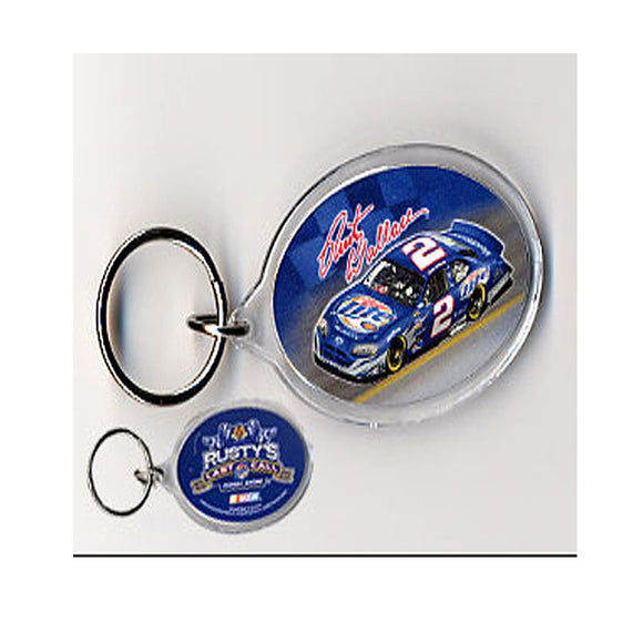 Rusty Wallace Car Photo Keychain