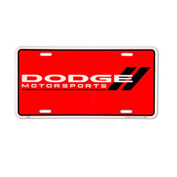 Dodge Motorsports Red License Plate