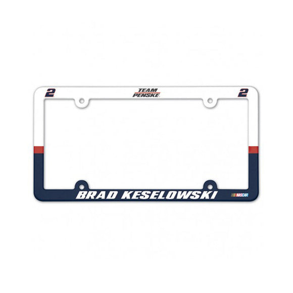 Brad Keselowski Full color License Plate Frame