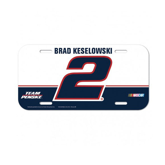 Brad Keselowski Full Color License Plate