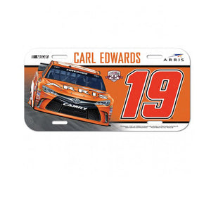 Carl Edwards Plastic License Plate