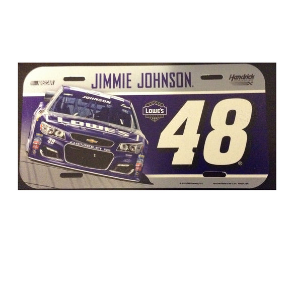 Jimmie Johnson License Plate