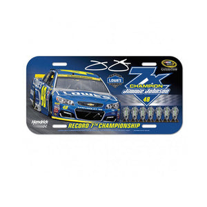 Jimmie Johnson 7 Time Champion License Plate