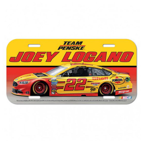 Joey Logano Shell License Plate