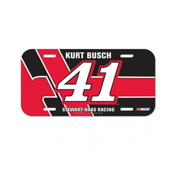 Kurt Busch License Plate
