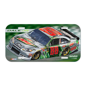 Dale Earnhardt Jr Mountain Dew License Plate