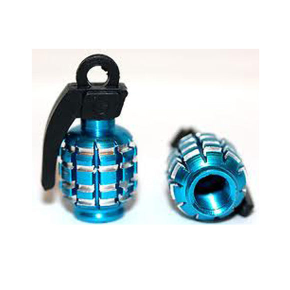 Valve Stem Tire Grenades Blue