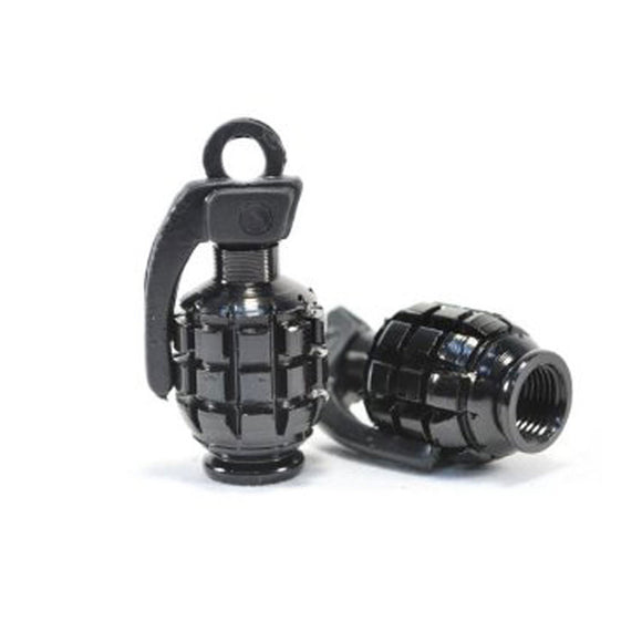 Tire Vale Stem Cap Black Grenade