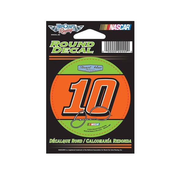 Danica Patrick Round Decal Orange Green