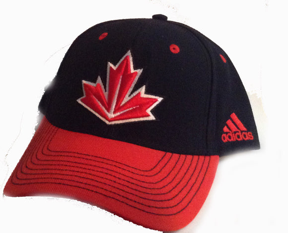 Full Black Canada Baseball Hat