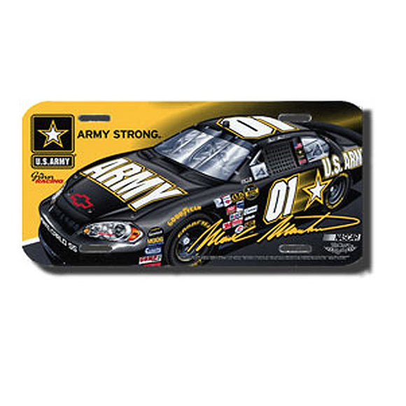 Mark Martin Army License Plate