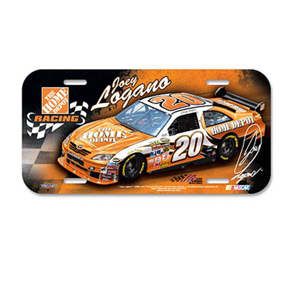 Joey Logano Home Depot License Plate